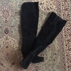 Nine West Thigh High Suede Boots